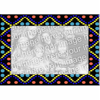 colorful dots photo frame cutout
