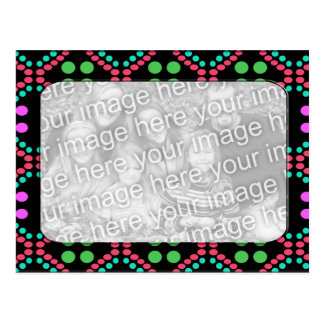 Colorful Dots photo frame Postcard