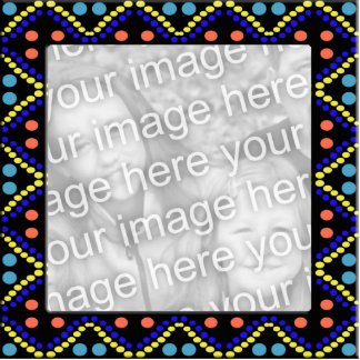 colorful dots photoframe cutout
