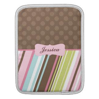 Colorful Dots & Stripes iPad Sleeve