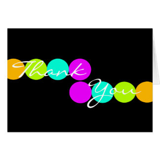Colorful Dots Thank You Card