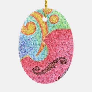 Colorful Double Bass and Clef - Ornament