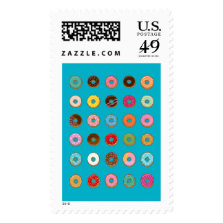 Colorful Doughnuts Postage