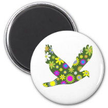 Colorful dove magnet