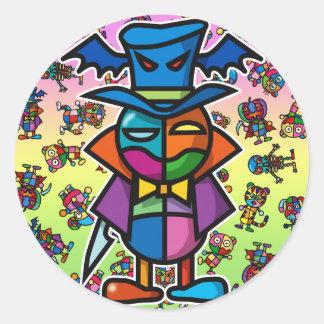 colorful Dracula2 Classic Round Sticker