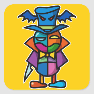 colorful Dracula Square Sticker