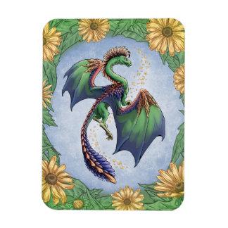 Colorful Dragon of Summer Nature Fantasy Art Rectangular Photo Magnet