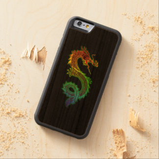 Colorful Dragon on Black Background Carved® Cherry iPhone 6 Bumper Case