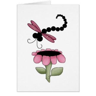 Colorful Dragonflies Card