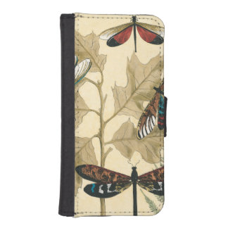 Colorful Dragonflies Floating Above Leaves Phone Wallet Case