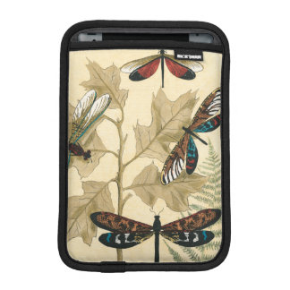 Colorful Dragonflies Floating Above Leaves Sleeve For iPad Mini