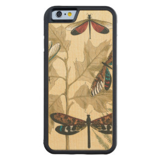 Colorful Dragonflies Floating Above Leaves Carved® Maple iPhone 6 Bumper Case