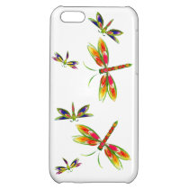 Colorful dragonflies iPhone 5c Case