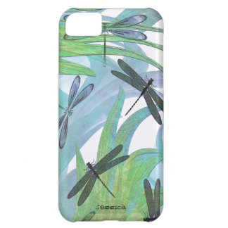 Colorful Dragonfly Abstract Custom Cover For iPhone 5C