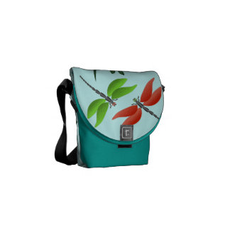 Colorful dragonfly courier bag