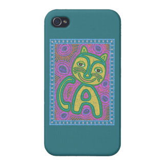Colorful Dreamland Cat iPhone 4 Covers