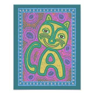 Colorful Dreamland Cat Art Photo