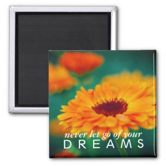 """Colorful """"Dreams"""" Wildflower Inspirational Magnet"""