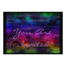 Colorful Dreamy Abstract 5x7 Paper Invitation Card