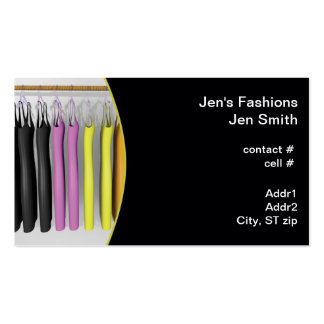 colorful dresses hanging Double-Sided standard business cards (Pack of 100)
