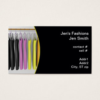 colorful dresses hanging business card