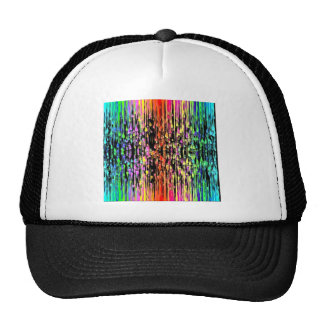 Colorful Drips Mesh Hats