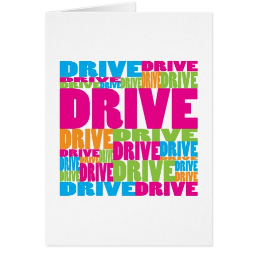 Colorful Drive Greeting Card
