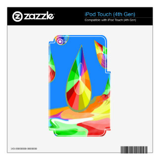 colorful drops  of freedom and joy skins for iPod touch 4G
