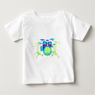 Colorful Drum Kit Baby T-Shirt