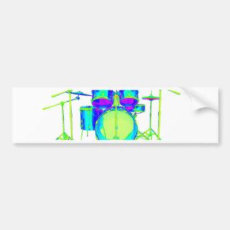 Colorful Drum Kit Bumper Sticker