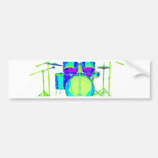 Colorful Drum Kit Bumper Stickers