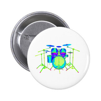 Colorful Drum Kit 2 Inch Round Button