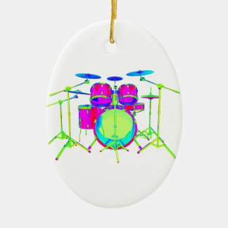 Colorful Drum Kit Ceramic Ornament