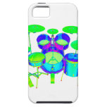 Colorful Drum Kit iPhone 5 Cases
