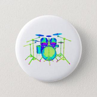 Colorful Drum Kit Pinback Button