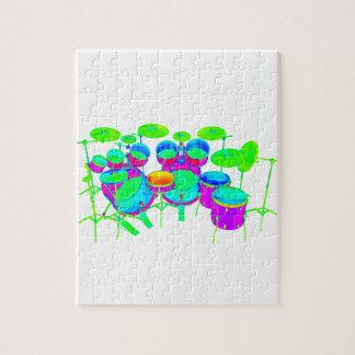 Colorful Drum Kit Puzzle