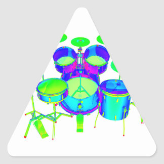 Colorful Drum Kit Triangle Sticker