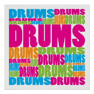 Colorful Drums Poster