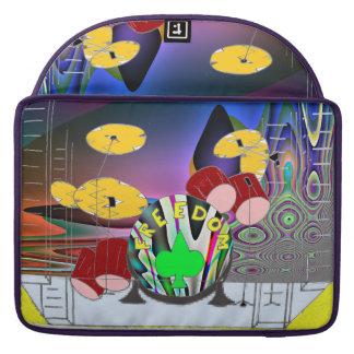colorful drumset MacBook pro sleeves