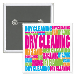 Colorful Dry Cleaning 2 Inch Square Button