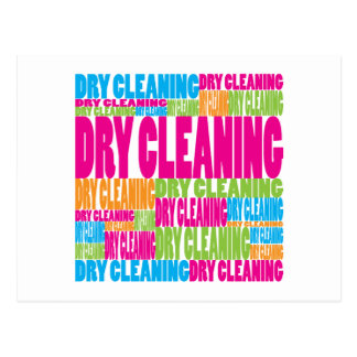 Colorful Dry Cleaning Postcard
