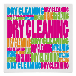 Colorful Dry Cleaning Poster