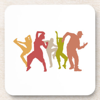 Colorful Dubstep Dancers Drink Coaster