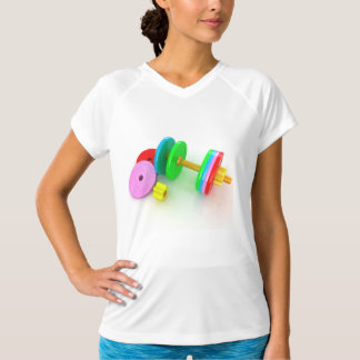 Colorful Dumbbells Womens Active Tee