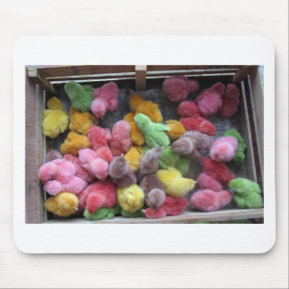 Colorful dyed chicks mouse pad