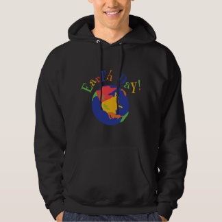 Colorful Earth Day Black T-Shirt