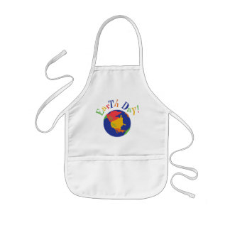 Colorful Earth Day Gift Kids' Apron