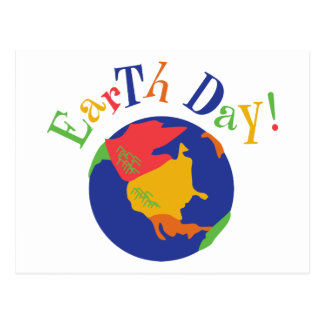 Colorful Earth Day Gift Postcard