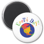 Colorful Earth Day Refrigerator Magnet