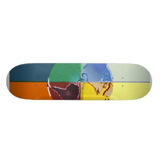 Colorful Earth of Skateboard